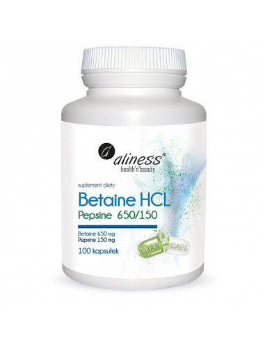 BETAINE HCL, PEPSYNA 650/150mg x 100...